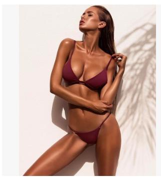 ... 2018 Sexig Dam Rosa Baddräkt Uniform Europa Bikini ... 8f7ad997fa60c