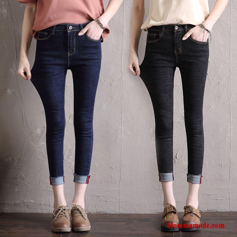 svarta jeans hög midja