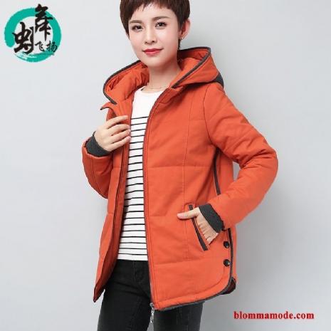 25c7e293a183 Bomull Jacka Stora Storlekar Lång Bomull Röd Ny Vinterkläder Bomullskläder  Dam Orange